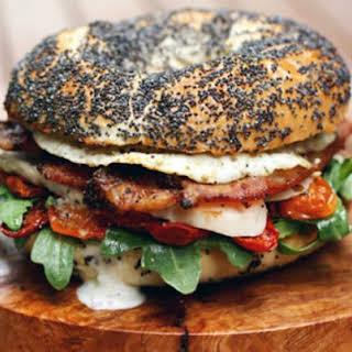 Chicken and Egg Club Sandwich.