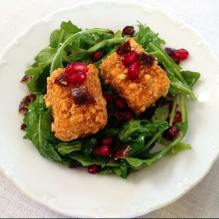 Cashew Crusted Tofu with Pomegranate.