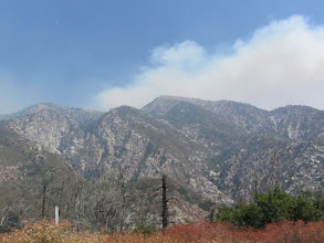 Photo: View northeast from Hwy 39 toward South Mount Hawkins. Those aren't clouds!