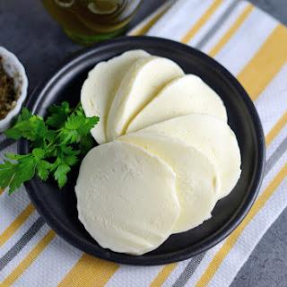Homemade Mozzarella Cheese.