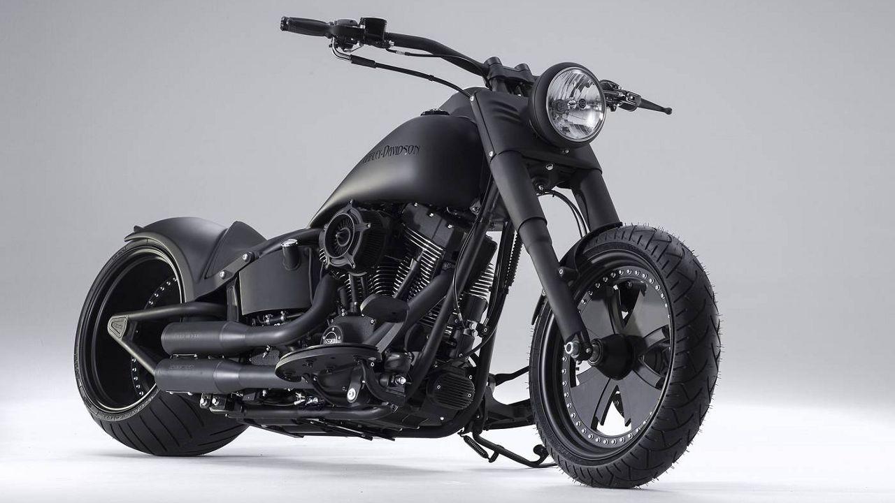 Harley Davidson Softail Bat-Mobil by Bündnerbike