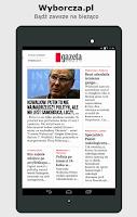 Screenshot of Gazeta Wyborcza