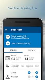 Malaysia Airlines screenshot