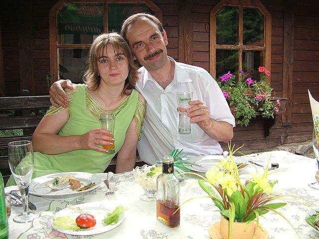 Іван Венжинович з дружиною