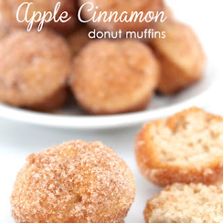 Cinnamon Apple Donut Muffins.