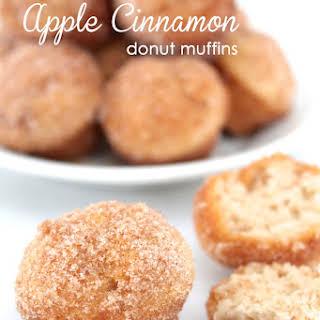 Cinnamon Apple Donut Muffins.