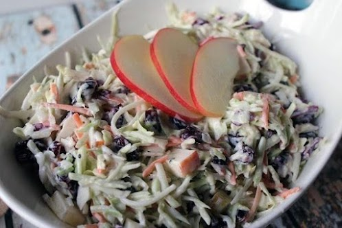 Click Here for Recipe: Creamy Cranberry Coleslaw with Raspberry Vinaigrette