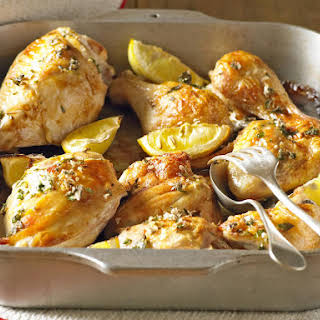 Roast Chicken with Lemon and Garlic.