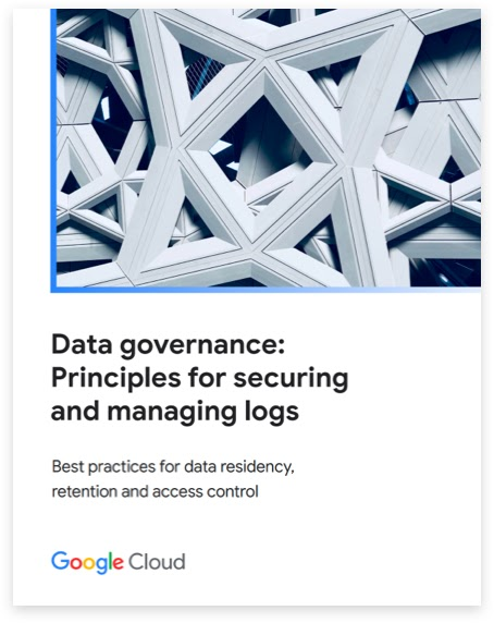 """Titelseite des Berichts """"Data Governance: Grundsätze für die Sicherung und Verwaltung von Protokollen""""."""