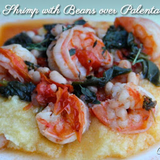 Tuscan Shrimp with Beans over Polenta