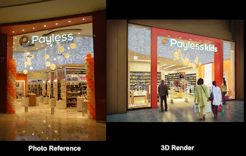 Photo: 3D/Architectural Visualisation:This is a 3d render of a retail store I have produced for Zebra projects