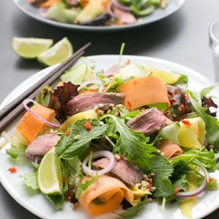 Asian Beef Salad.