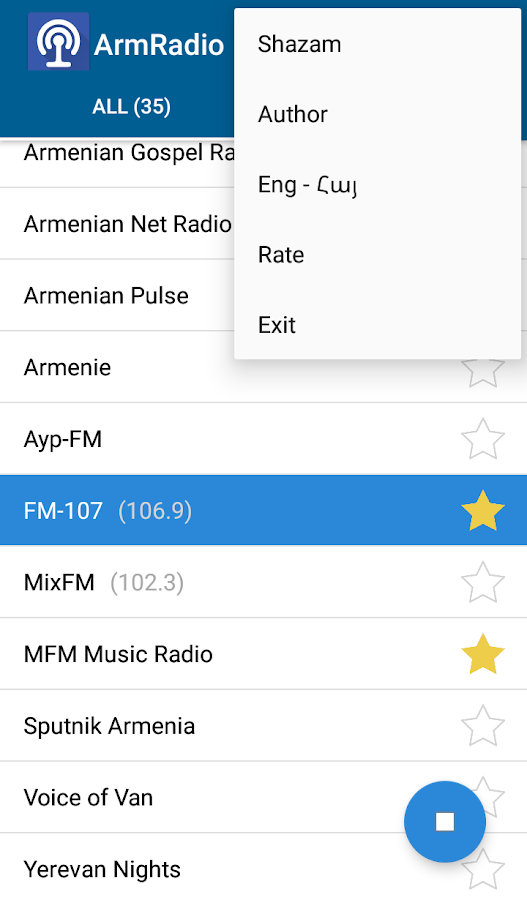 ArmRadio- screenshot