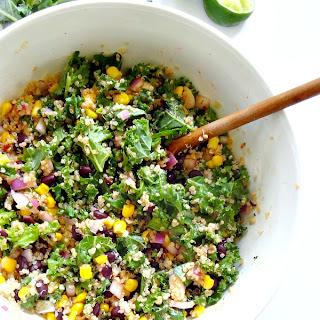Spicy Kale and Quinoa Black Bean Salad.