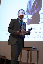 """Photo: Mark Redgrove presenting - """"Comms Associations' Mission Today""""- 2012"""