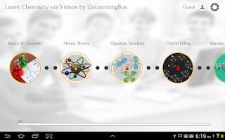 Screenshot of Learn Chemistry via Videos