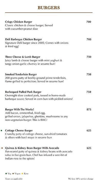 Indigo Delicatessen menu 7