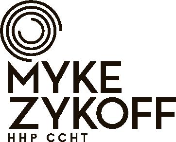 Myke Zykoff hypnotic circle logo
