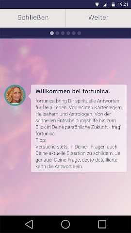 android fortunica - Spirituelle Hilfe Screenshot 0