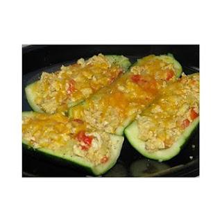 Egg Stuffed Zucchinis