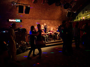 Photo: Farewell bal/concert on Saturday night, with the first band before it got too busy.