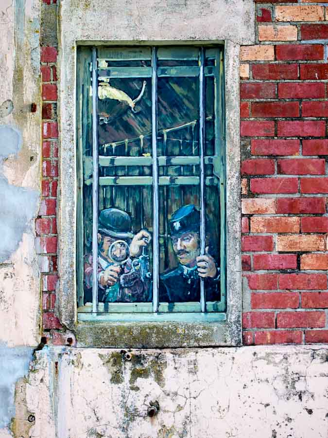 Photo: A painting behind one of the windows of the old gaol at Gisborne provides a clue to the building's past life.