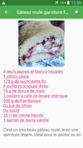 Biscuit roulu00e9 avec calories recettes en franu00e7ais. 2.14.10021 screenshots 8