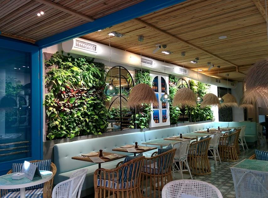 Jardines verticales en los restaurantes urbanarbolismo for El jardin de la maquina restaurante