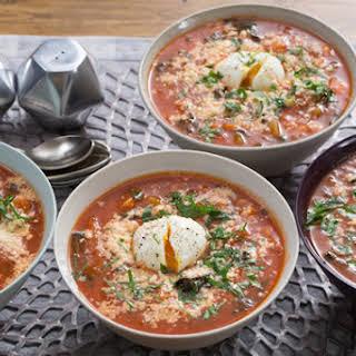 Tuscan Ribollita Soup with Lacinato Kale & Soft-Boiled Eggs.