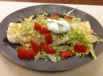 Ganado Cafe Green Chile Burritos