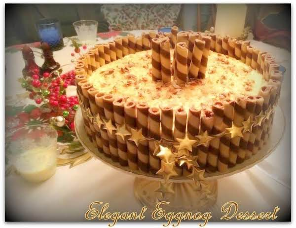 Elegant Eggnog Dessert