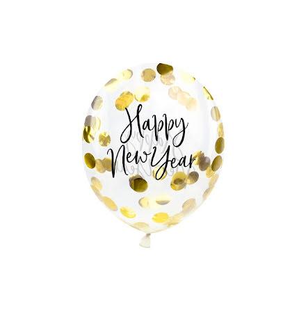 Konfettiballonger - Happy new year
