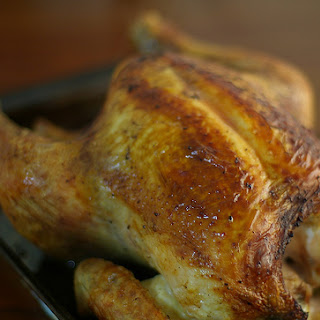 Roast Chicken stuffed with Lemon, Garlic and Fennel