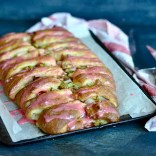 From My Garden To My Table….Amazing Rhubarb and Pear Fancy Pants Yeast Cake