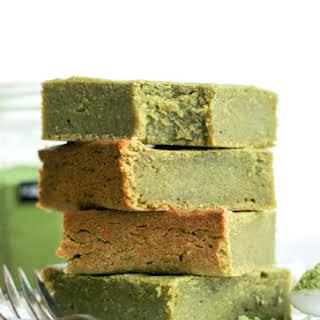 Healthy Matcha Green Tea Blondies.