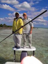 Photo: Ben Hunting and guide Brian Leadon- Andros Island Bonefish Club- Fall 2010