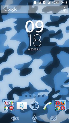 Camouflage Blue Xperien Theme
