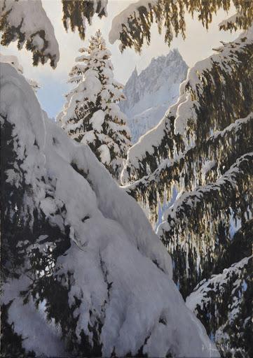Charmoz du Lavancher. oil on canvas, 50x70cm