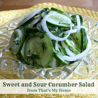 Sweet and Sour Easy Cucumber Salad Recipe