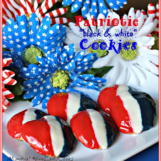 Patriotic 'black and white' Cookies