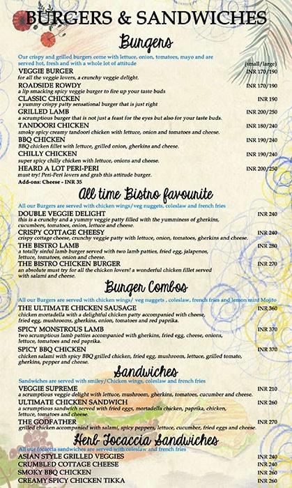 Bistro Claytopia menu 6