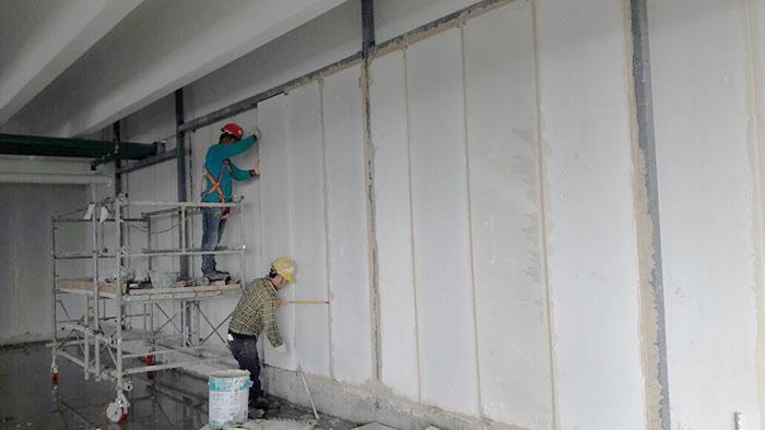 Thi công tấm tường Panel bê tông xốp EPS không khó