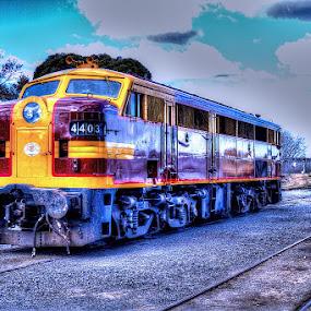 4403 by Peter Keast - Transportation Trains ( desiel, australia, train, canberra, museum )