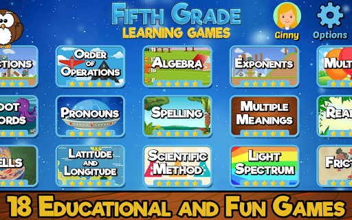 Fifth Grade Learning Games screenshots 1