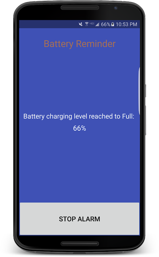 Battery Charge Reminder- screenshot