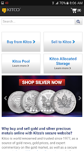 Buy Gold and Silver from Kitco- screenshot thumbnail