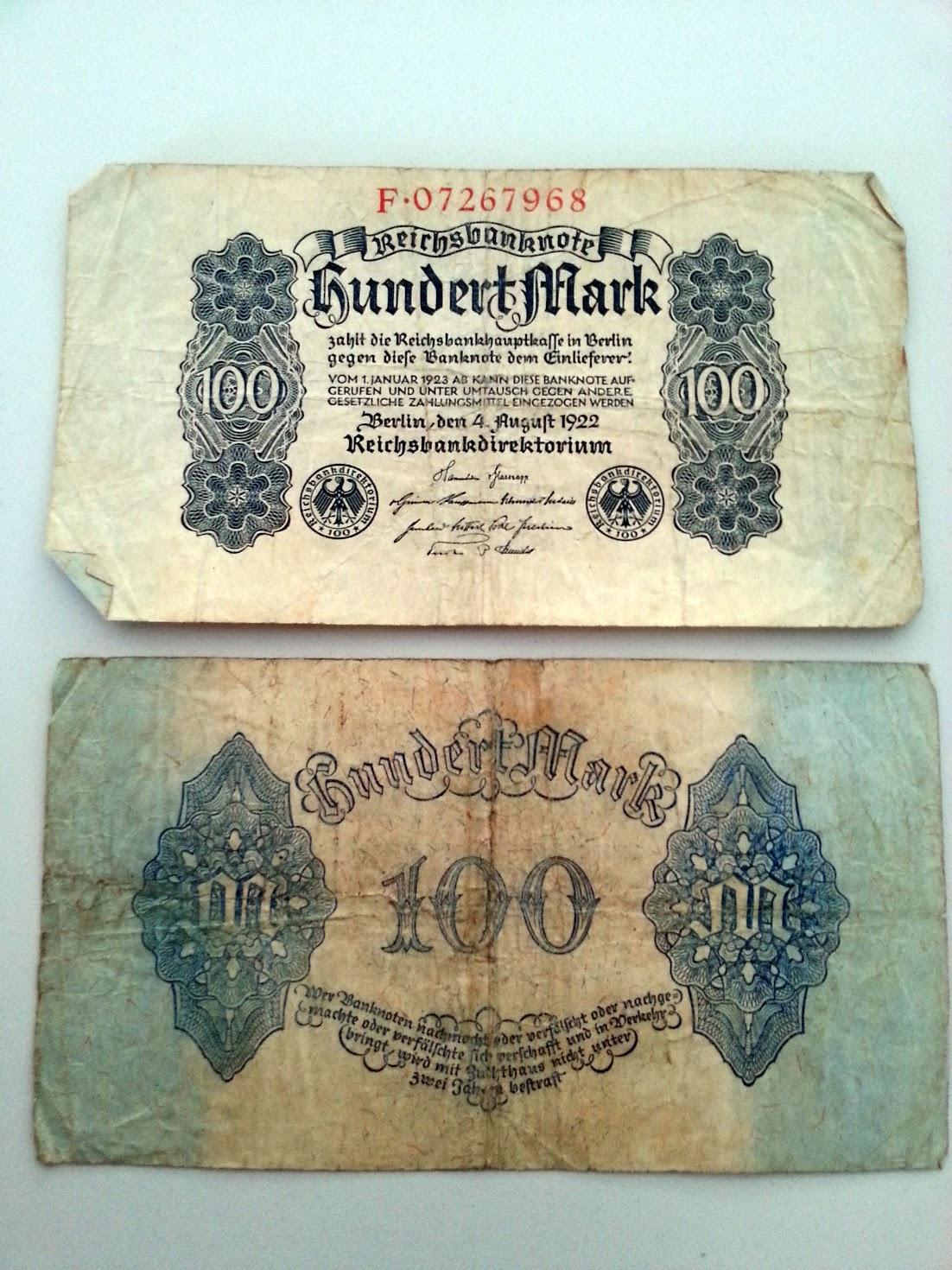 100 Reichsmark 19220804