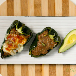 Spicy Turkey Stuffed Poblano Peppers
