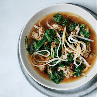 Spicy Pork and Mustard Green Soup.