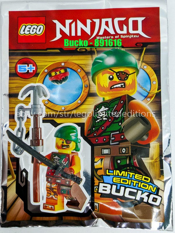 891616 Foil Pack ORIGINAL LEGO Ninjago Limited Edition Minifigure BUCKO